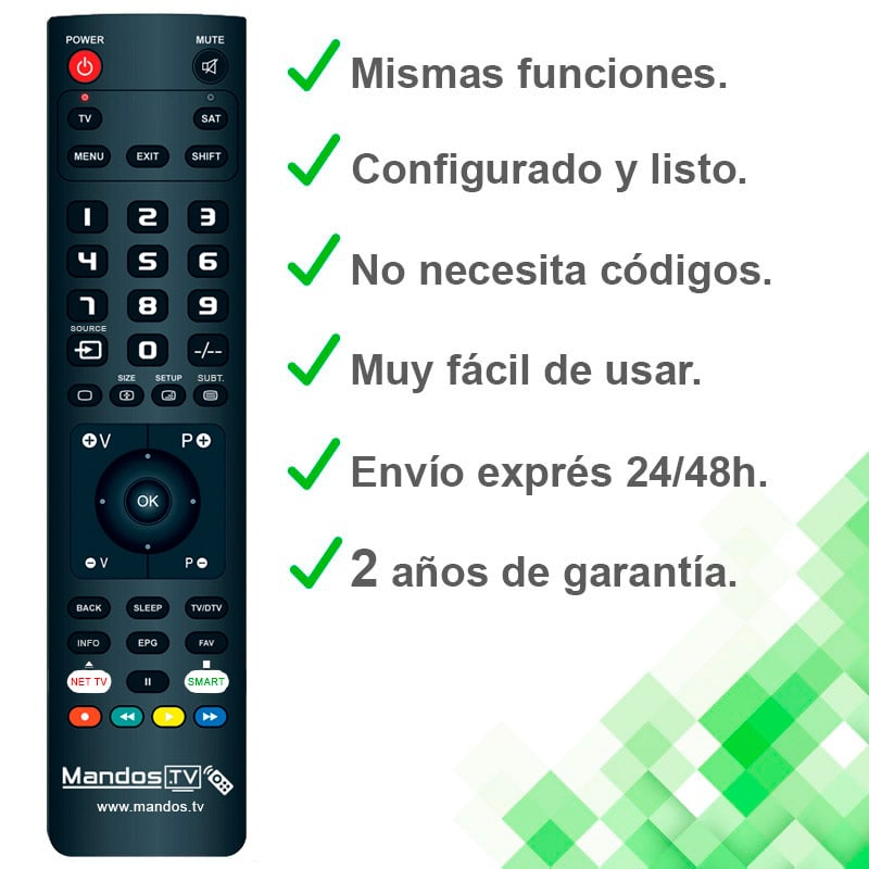 Tm1240a mando a distancia tv de samsung mandos tv - Mando a distancia ...